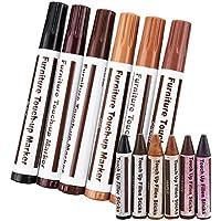Crayones para reparación de muebles de madera para puerta de madera de fresno, 3/6 unidades #3 Reddish brown+walnut+black+oak+brown+cherry