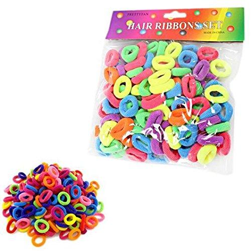 Kinder Mädchen Kleinkinder Mix Farbe Klein Haar Bänder Bands Haargummis Schleifen Boutique (Boutique Kleinkind)