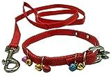 #5: Sollar's Nylon Cat Collar Cat Belt & Leash With Bells (Extra Small)