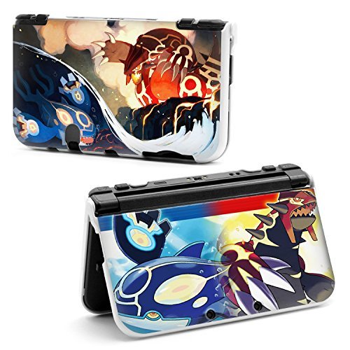 Cartoon Pikachu Pokemon World Hard Protective Case Cover For Nintendo New Style 3DS XL Omega Ruby Groudon and Alpha Sapphire Kyogre [Importación Inglesa]