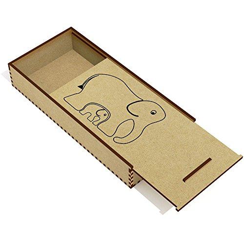 Azeeda 'Elefantes' Estuche de lápices de Madera (PC00004948)