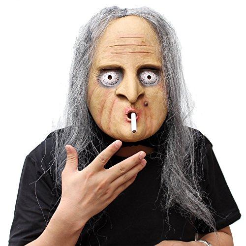 CreepyParty Deluxe Neuheit-Halloween-Kostüm-Party-Latex-menschliche Hauptmaske Masken Die hexe