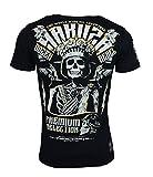 Yakuza Premium Herren T-Shirt YPS 2414 DOZEN REBLES BLACK (L)