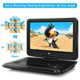 from CUtrip Portable DVD Players CUtrip 11.6 Inch IPS Screen HD Dvd Players with 178 Viewing Angles , 4000 mAh Rechargeable Battery, Directly Play in 1080P MP4/MKV/AVI/MOV/RMVB