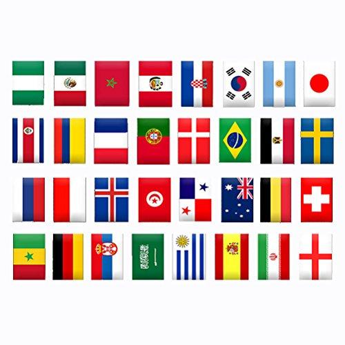 Flag String (VORCOOL Russland Fußball Spiel Flag National String Flag Banner 32 Teams Länder Banner)