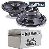 Skoda Fabia 2 5J Front Heck - Lautsprecher Boxen Axton AE652F | 16cm 2-Wege 160mm Koax Auto Einbauzubehör - Einbauset