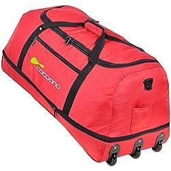 Coconoo STORM – Bolsa de viaje con ruedas XXL,100-135litros de capacidad, plegable maleta trolley, Devil Red ( Rot ) (multicolor) - 15581