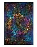Indisch Wandbehang Star Tapestry Psychedelic Baumwolle Wandteppich Tie Dye Von Rajrang