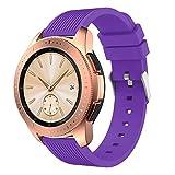 Arealed Correa De Banda De Repuesto De Reloj De Silicona Suave Correa De Pulsera para Samsung Galaxy Watch 42Mm (púrpura)