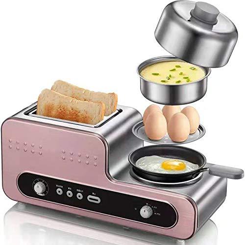 CICIN Multifunktions Frühstück Maker Brotbackautomat 2 Scheiben Toaster Eier Boiler Dampfgarer Omelett Steak Bratpfanne