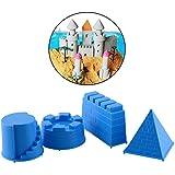 Peradix Fantastic 4pcs Castle Sand Toys Pyramid Sandcastle Water Kids Gift Outdoors