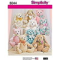 Simplicity - Patron de couture 8044 Ours, chien et lapin en peluche