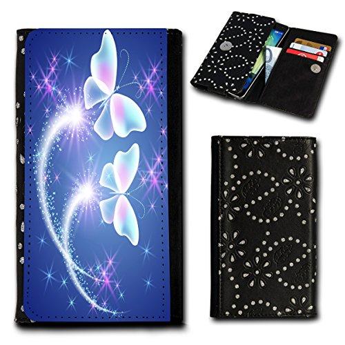 Strass Book Style Flip Handy Tasche Case Schutz Hülle Foto Schale Motiv Etui für Huawei Ascend G7 - Flip SU2 Design6 Design 12