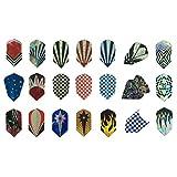 Sanfeng 17conjuntos conjuntos de juegos/21/27/30sets/42Juegos Durable patrón estándar y acero para dardos de punta blanda para dardos accesorios de aluminio fino mascota suministros de equipo para juegos de dardos, 21 sets-63pcs