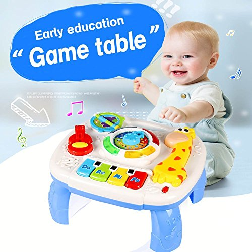 Musical Learning Table Baby Toys 6 to12 Months up-Early Education Music Activity Center Game Table Toddlers Toys for 1 2 3 Year Old -Different Lighting&Sound (New Gifts to Your Babies) 51L4CiuMQeL