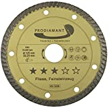 PRODIAMANT Premium Diamant-Trennscheibe Fliese/Naturstein Turbo 125 mm x 22,2 mm Diamanttrennscheibe 125mm