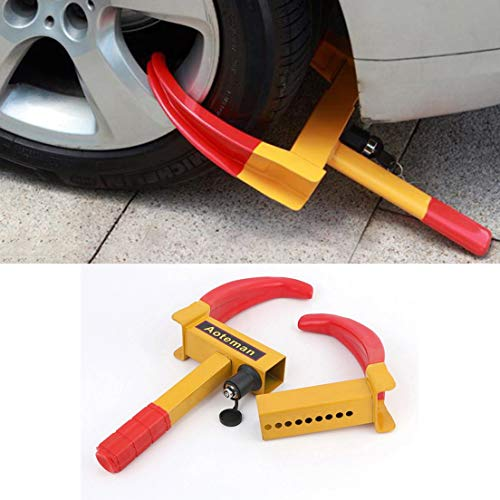 Delicacydex-Portable-Wheel-Lock-antifurto-Truck-Tyre-Clamp-Security-Trailer-Pneumatico-Parcheggio-Lock-Heavy-Duty-Car-Wheel-Clamp-Giallo-e-Rosso