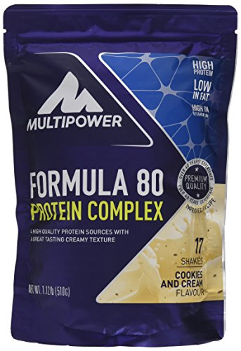 Multipower Formula 80 Protein Complex, Cookies and Cream, 510 g (Verdauliches Eiweiß)