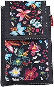 Tickles Black Printed Fancy Mobile Pouch with Case Holder Waist Clip for Women Girls Ladies Sari Coin Pocket (