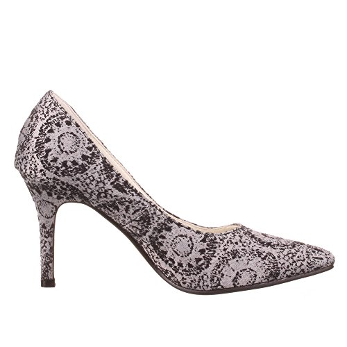 Damen Schuhe, 50897, PUMPS Schwarz Weiß