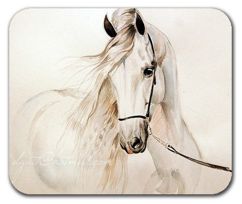 Andalusian Horse White Grey Mousepad Mouse pad mat Mousepad Mouse pad Mouse mat by 250mm*300mm (Space Mouse Pro Wireless)