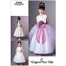 Vogue 7819 - Patrones de costura para vestido de niña (instrucciones en inglés ...