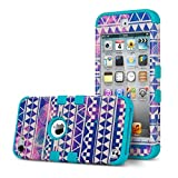 ULAK iPod Touch 6 Case,iPod Touch 5 Case,Hybrid Hard [ Pattern ] with Silicon Case Cover for New iPod Touch 6 5th Generation_2015 Released (Reverie/Bl