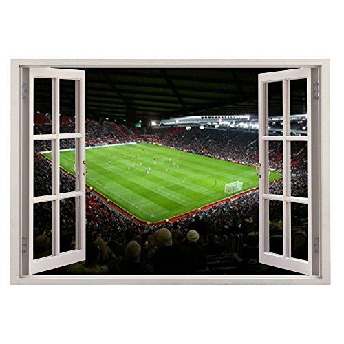 Manchester United Fenster Kinder Wandaufkleber Wandüber Wall Art Wand Tattoo Customise4UTM (man u window 70cm)