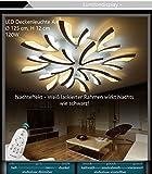 Eurohandisplay XW062-15 LED Deckenleuchte mit Fernbedienung Lichtfarbe/ Helligkeit einstellbar Acryl-Schirm weiß lackierter Metallrahmen Modernes Design Energieeffizienzklasse: A+ Modern Wohnzimmerleuchte Kronleuchte Pendelleuchte Deckenlampe Deckenstrahler led Deckenleuchte Hängeleuchte Hängelampe LED lampe LED Leuchte Beleuchtung Einbauleuchte Wandleuchte Spot Lüster (XW062-15)