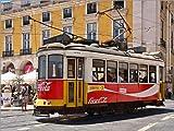 Poster 40 x 30 cm: Strassenbahn in Lissabon von Jörg