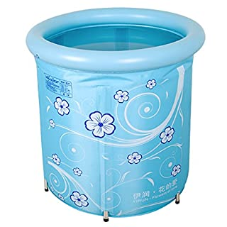 MBJZ Baby Pool Children thick warm for swimming and bathing for adults and bath Baby Bath tub bath tub, blue,70x78cm