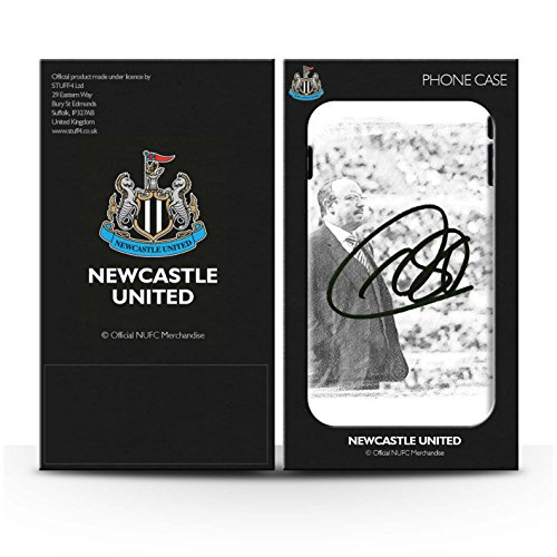 Offiziell Newcastle United FC Hülle / Gel TPU Case für Apple iPhone SE / Pack 8pcs Muster / NUFC Rafa Benítez Kollektion Autogramm