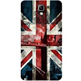 Casotec London Flag wallpaper Design Hard Back Case Cover for Samsung Galaxy Note 3 Neo
