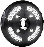 AMIR LED-Schirmleuchte, Cordless 24 LED Patio Umbrella Light, 12.000 Lux schirm-lichter Sonnenschirm LED-Leuchten, batteriebetriebene Regenschirm Pole Light Zelt Licht Lager-Licht für Regenschirme, Camping Zelte oder Outdoor Use (Schwarz)