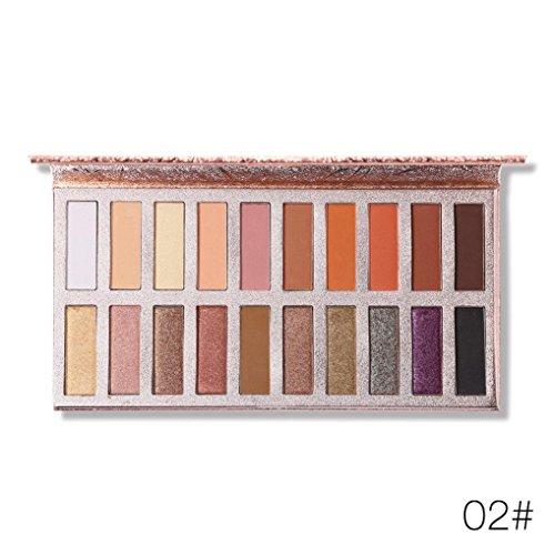 ❤️ Fard à paupières,Ombre à paupières Shimmer Glitter Palette Ombre à paupières Matte Eyeshadow Maquillage cosmétique Palette by LHWY (B)