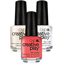 CND Creative Play Jammin Salmon Nr. 405 13,5 ml mit Creative Play Base Coat 13,5 ml und Top Coat 13,5 ml, 1er Pack (1 x 0.041 l)