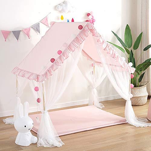 YJYRCYJLH Kinderzelt Spielhaus, bequem und komfortabel Platz (das Produkt enthält Keine Matten und Lampen),Pink
