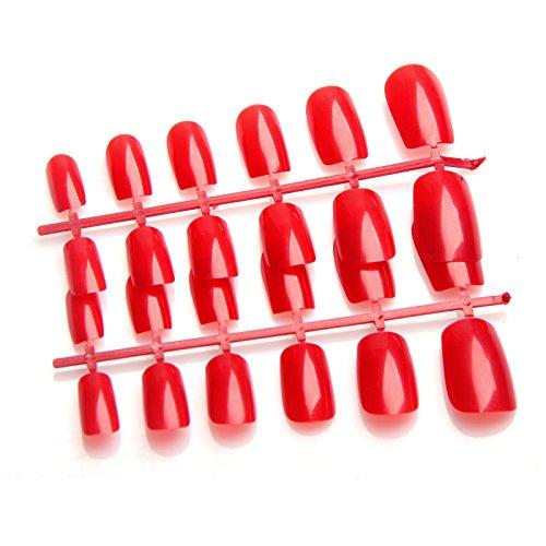 CellDeal-24 Faux Ongles pour Manucure Écarlate