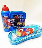 K&M World Spiderman Lunch Box, Water Bottle Set for Kids/Return Gift Item +