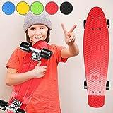 Physionics Skateboard | 22' (57cm), Roulement à Billes : ABEC 5, Choix de Couleurs,...