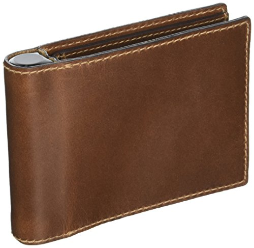 Nomad Horween Leather Charging Battery Wallet - Bi-Fold - Brown - Develops a Rugged Patina - Full-Wrap Construction