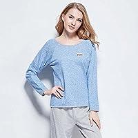 DMMSS Donna camicia da notte in cotone manica lunga Plus Size Casual indumenti da notte , 2 , xl