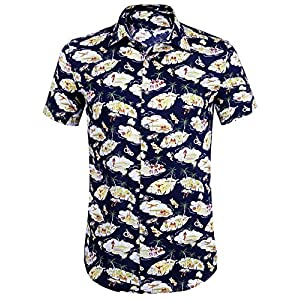 iClosam Herren Kurzarm Hemd Regular fit Hemden für Freizeit,Anzug, Hochzeit
