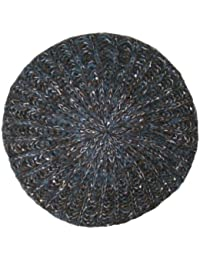 Ladies Knitted Beret Beanie Hat With Sequins Hawkins Collection Available in 3 Rustic Colours