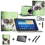 3-in-1-Set Tablet-Schutzhülle für MP Man Android MP100i (10,1 Zoll / 25,7 cm), Leder, inkl. Displayschutzfolie und Stylus-Eingabestift Grün