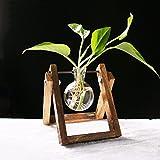 JIEJING Flower ständer Pflanze-ständer Pflanze flower pot rack Display regal Regal hält Wood plant ständer Pastorale Kreativ Persönlichkeit Glas flaschen-A