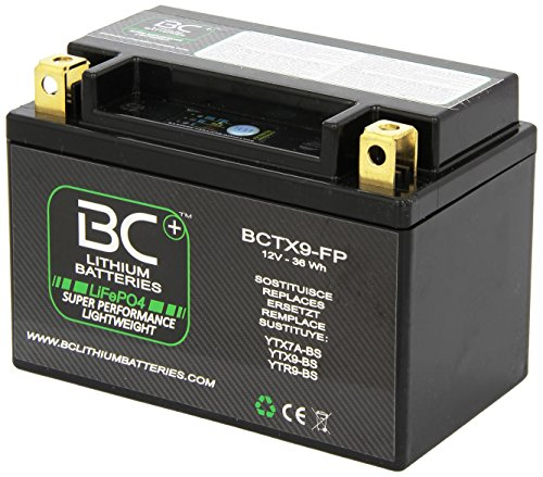 BC Lithium Batteries BCTX9-FP Batteria Moto al Litio LiFePO4 HJTX9-FP / YTX9-BS / YTR9-BS