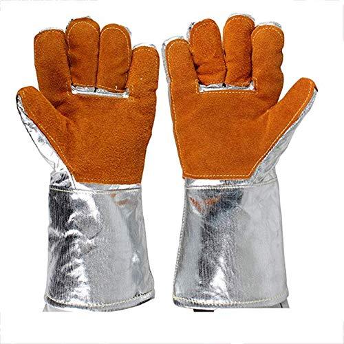 FFFFFFFF Aluminiumfolie Hochtemperaturbeständigkeit Rindslederhandschuhe Schweißer Isolierung Strahlenschutzhandschuhe