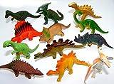 12 x trendy Dinos Dionsaurier im Mix Spieltier Gummitier spielen+sammeln Mitbringsel 5254