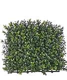 artplants - Künstliche Buchsmatte TOM, uv-sicher, 25 x 25 cm - Kunst Bux Hecke / Deko Gartenhecke Buchs
